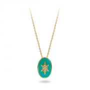 Collier Mya Bay Etoile du nord turquoise Emaillé