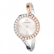Montre femme Swarovski Lovely Crystals Bangle acier rose et blanc