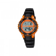 Montre enfant Calypso digitale orange/noire